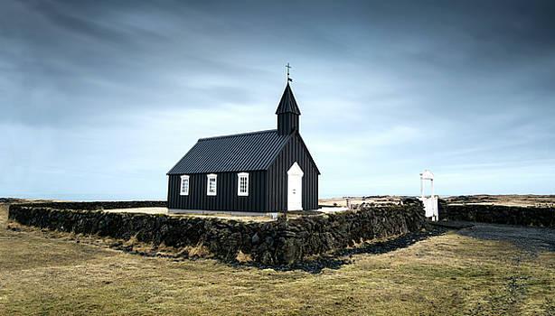 Black church of Budir, Iceland by Michalakis Ppalis