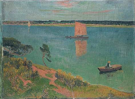 Boat and the River Bank by Henri Moret