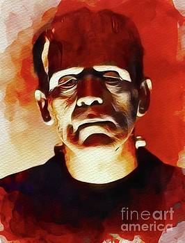 John Springfield - Boris Karloff as Frankenstein