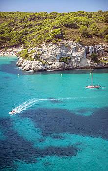 Cala Macarella on Menorca Spain by Eduardo Huelin