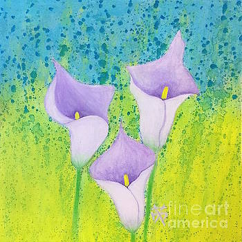 3 Calla lilies  by Wonju Hulse