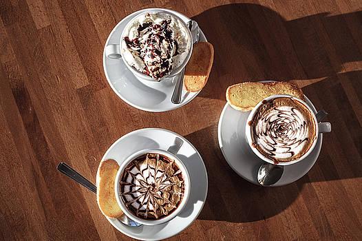 3 Cappuccino Cups by Cristian Mihaila