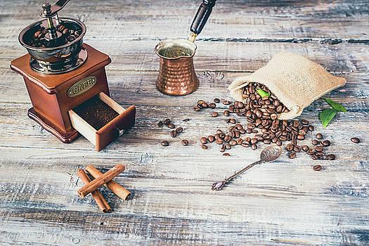 Coffee still life by Julian Popov