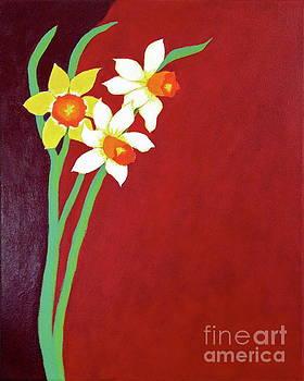 3 Daffodils  by Wonju Hulse