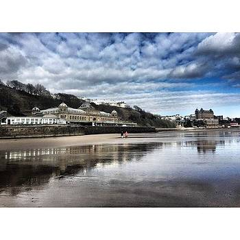 Scarborough beach - view of the Spa by Rebecca Bromwich