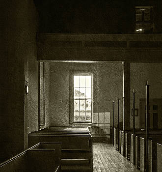 Dudley's Chapel Window - Sepia by Brian Wallace