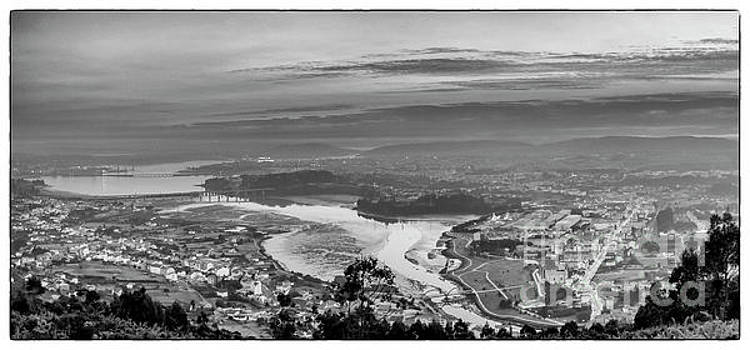 Ferrol's Ria Panorama From Mount Ancos Galicia Spain by Pablo Avanzini