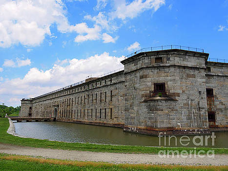 Fort Delaware on Pea Patch Island Delaware by Louise Heusinkveld