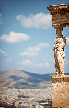 Eduardo Huelin - Greece Athens The ancient Porch of Caryatides