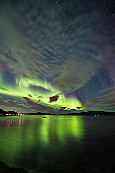 Green sky by Frank Olsen