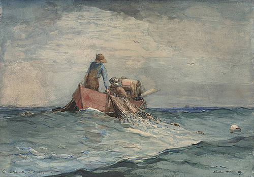 Hauling in the Nets by Winslow Homer