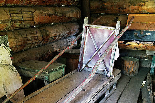 Historic Log Trappers Cabin by Robert Braley