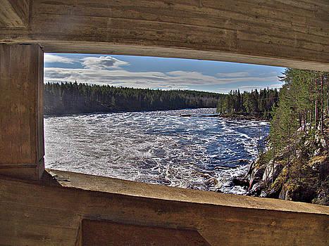Jockfall, waterfall in the north of Sweden by Tamara Sushko