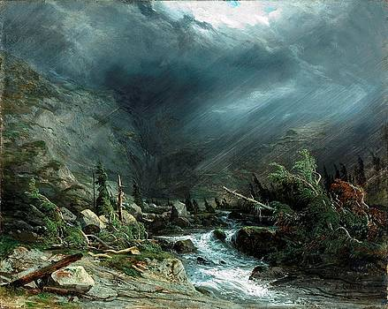 Landscape  by Alexandre Calame