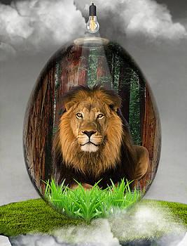Lion Art by Marvin Blaine