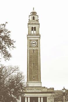 Scott Pellegrin - Memorial Tower - LSU sepia toned