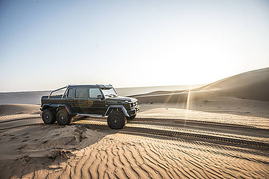 Mercedes G63 6x6 in Oman Desert by George Williams