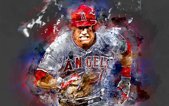Mike Trout by Marvin Blaine