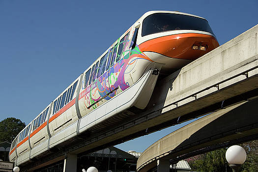 Monorail at Disney World by Carl Purcell