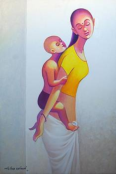 Mother child  by Milind Shimpi