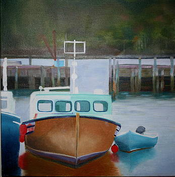 Nova Scotia Boats by Brenda Everett
