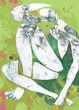 Nude - Pop Art Poster by Kim Wang