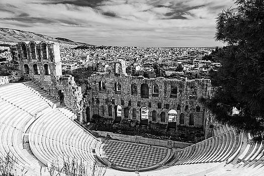 Odeon of Herodes Atticus on Acropolis in Athens by Michael Maximillian Hermansen