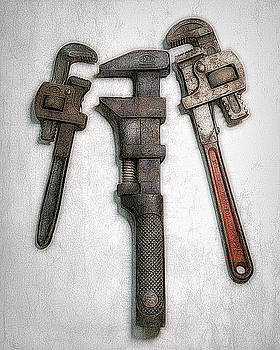 3 Old Wrenches by Robert Meyerson