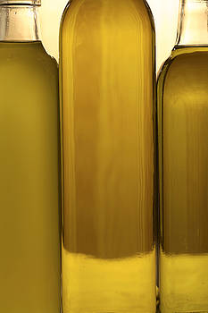 3 Olive Oil Bottles by Frank Tschakert