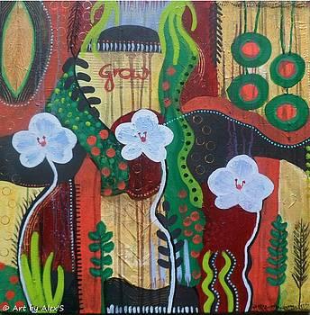 3 Orchids by Alexandra Schumann