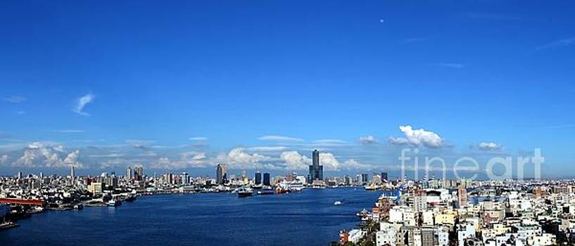 Panorama of Kaohsiung City in Taiwan by Yali Shi