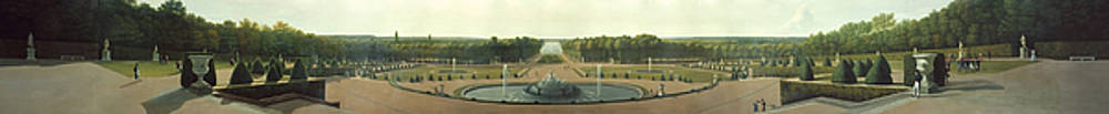 Panoramic View of the Palace and Gardens of Versailles by John Vanderlyn