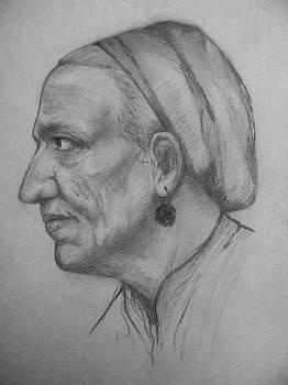 Portret De Batrina by Covaliov Victor
