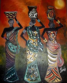 3 Pretty Sisters by Laura Fatta