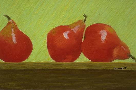 Mary Erbert - 3 Red Pears