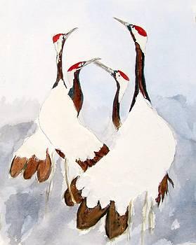 Sandhill Spoonbills by Barbara Pearston