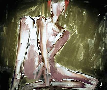 Seated Nude by Jim Vance