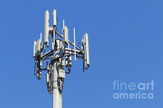 3 Sector Cellular Telecom Communications Antenna Array  by Carl Chapman