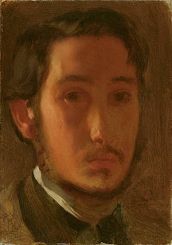 Self Portrait With White Collar by Edgar Degas