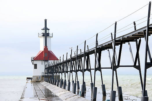 St. Joseph Pier and Lighthouse by Laura Greene