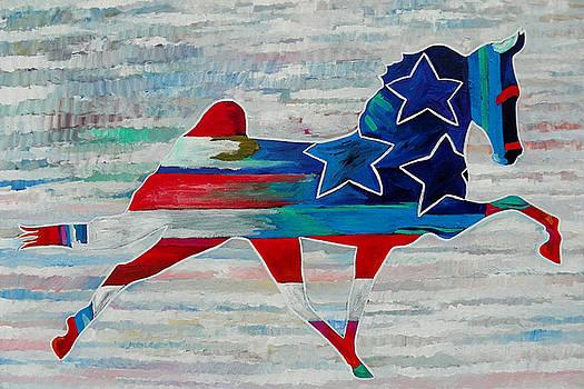 3 Stars Horse by Gray