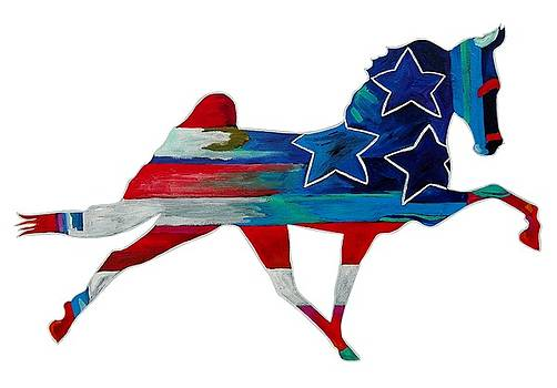3 Stars Horse Cutout by Gray