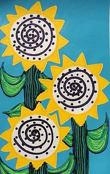3 Sunflowers by Matthew Brzostoski