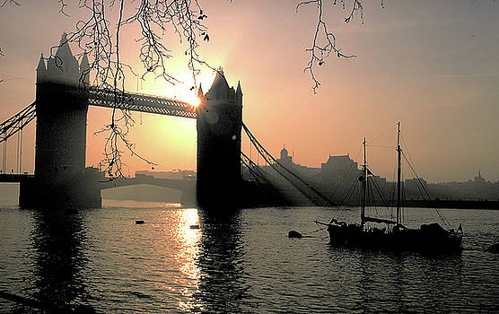 Sunset at Tower Bridge in London by Carl Purcell