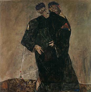 The Hermits by Egon Schiele