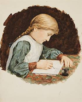 The Schoolwork by Albert Anker