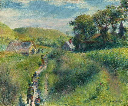 The Vintagers by Auguste Renoir