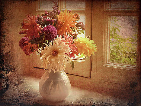 Vase full of flowers by Bren Ryan