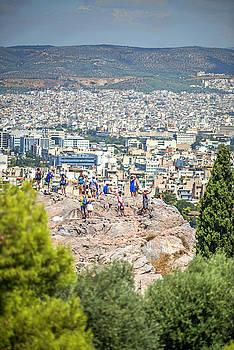 Eduardo Huelin - View from the Acropolis in Athens Greece