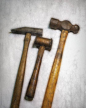 3 Vintage Hammers by Robert Meyerson